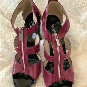 Michael Kors Purple Zip Front 8.5 Heels